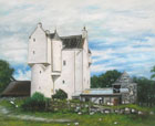 artists painting of muckrach castle