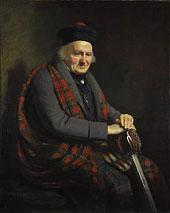 cuadro antiguo jefe del clan