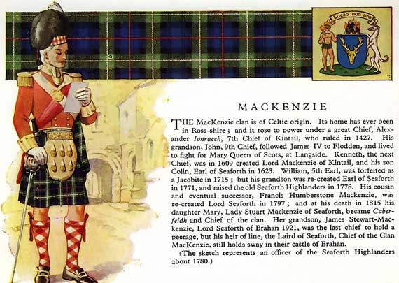 Clan Mackenzie, their Castle and information.
