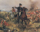 an oul painting of the Wellington at the battle of Waterloo
