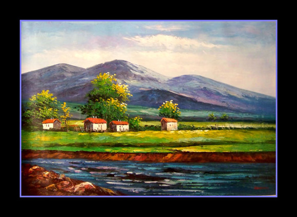 Simple Landscape Paintings of Mountains Mountain Landscape Painting