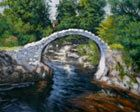 landscape painting of packers bridge at Carrbridge